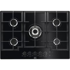 Aeg HKB75NB540 Gas On Glass 5 Burner Gas Hob