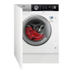 Aeg L7FC8432BI Prosteam Technology Integrated Washing Machine, 8Kg Load, A+++ Energy Rating, White