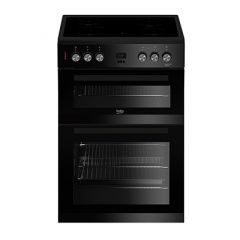 Beko EDC633K Agency 60Cm Double Oven With Grill Electric Ceramic Hob
