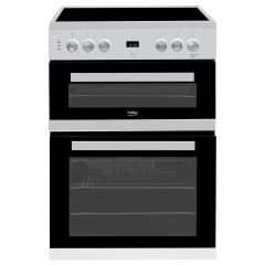 Beko EDC633S Agency 60Cm Double Oven With Grill Electric Ceramic Hob