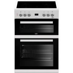 Beko EDC633W Agency 60Cm Double Oven With Grill Electric Ceramic Hob
