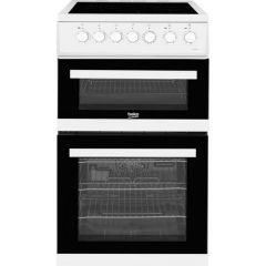 Beko EDVC503W Agency 50Cm Double Oven Electric 58 Ltrs Main, 31 Ltrs Top