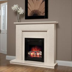 Be Modern 001538 44` Roesia White Surround With 125210 44` Lipped Hearth