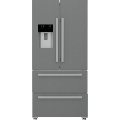 Blomberg KFD4953XD Agency Frost Free American Style Fridge Freezer - Stainless Steel - A+ Energy Rat