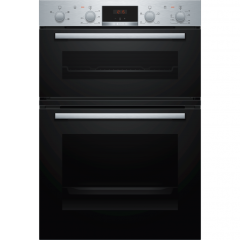Bosch MHA133BR0B Serie 2 Built In Double Oven - Stainless Steel - A/B Rated