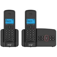 B.T 094187 Twin Cordless Telephones With Call Block And Answer Machine