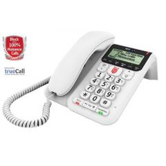 B.T 083154 Decor 2600 Corded Telephone With Answer Machine - White