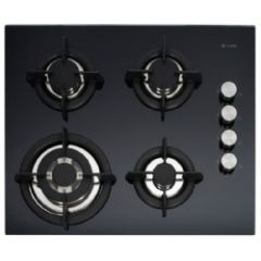 Capel C744G Black Glass Gas Hob