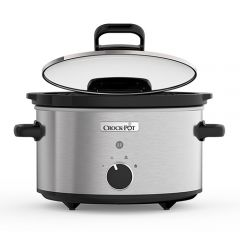 Crock Pot CSC044 3.5L Hinged Lid Slow Cooker Stainless Steel