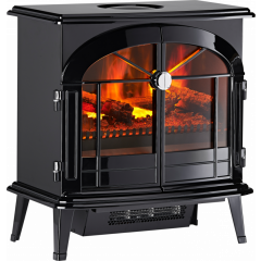 Dimplex BRG20 Burgate Cast Iron Style Stove Incorporating Opti-Mist Flame And Smoke Effect 2Kw Fan H
