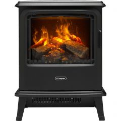Dimplex BYP20 Bayport Stove Log Effect Electric Stove With Remote Control - Black