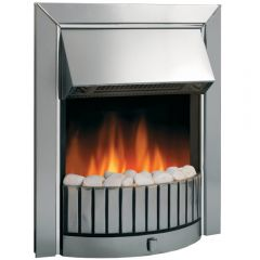 Dimplex DLS20 Delius Electric Fire Optiflame 2Kw Stainless Steel