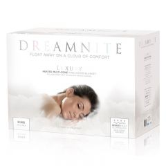 Dreamnite DN49002 King Size Heated Fitted Fleece Electric Under Blanket White