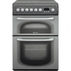 Hotpoint 60HEG 60Cm Electric Double Cooker With Ceramic Hob Graphite
