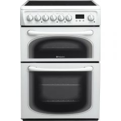 Hotpoint 60HEP 60Cm Electric Double Cooker With Ceramic Hob White
