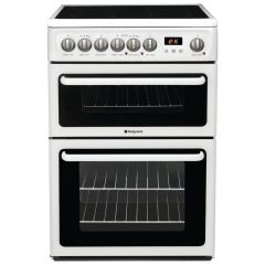 Hotpoint CH60EKW 60Cm Double Electric Cooker Catalytic Liners