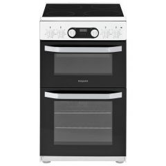 Hotpoint HD5V93CCW 50Cm Double Oven Electric Cooker - White 62 Litre
