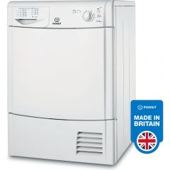 Indesit IDC8T3B 8Kg B Rated Conedser Tumble Drier White
