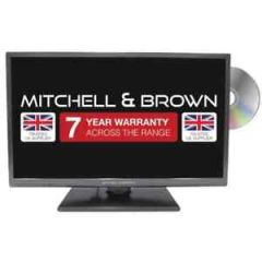 Mitchell + Brown JB-241811DVD 24 Freeview HD ,Dvd, Freeview Play, Central Stand