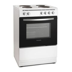 Montpellier MSE60 60Cm Single Cavity Electric Cooker, Solid Plate Hob, Storage Compartment,