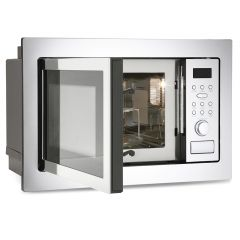 Montpellier MWBI90025 Built-In Microwave & Grill 25Ltr Capacity,
