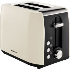 Morphy Richards 222059 Equip 2 Slice Toaster Stainless Steel Ivory Cream
