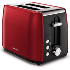 Morphy Richards 222060 Equip 2 Slice Toaster Stainless Steel Red