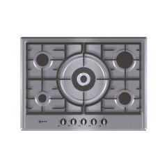 Neff T25S56N0GB 5 Burner Hob 702 Mm Wide Stainless Steel Extra Wide Gas Hob