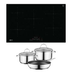 Neff T48FD23X2 Agency Frameless Induction Hob With Combizone - Black