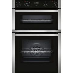 Neff U1ACE2HN0B Agency Electric Circotherm® Double Oven - Black/Steel - A Energy Rated