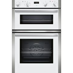 Neff U1ACE2HW0B Built In Double Oven - White - A/B Rated Oven Capacity: 71 Litre Cavity Volume: 34 L
