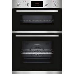 Neff U1GCC0AN0B Agency Built In Electric Double Oven - Black & Steel - A Energy Rated