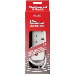 Red/Grey C78 2M 13A 2 Gang Extension Lead