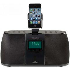 Roberts Radio Ltd FUSION Dab/Fm Stereo Radio Featuring A Retractable Docking Station To Hold Your Ip