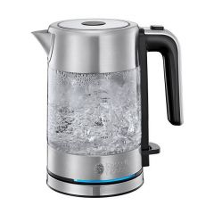 Russell Hobbs 24191 1.0 Litre 2.2Kw Compact Home Glass Kettle