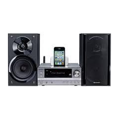 Sharp XL-HF401PH Hi Fi Component System 2 X 50W RMS Play And Charge Ipod, Iphone And Ipad