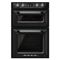 Smeg DOSF6920N1 60Cm `Victoria` Traditional Multifunction Double Oven, Black Energy Efficiency Class