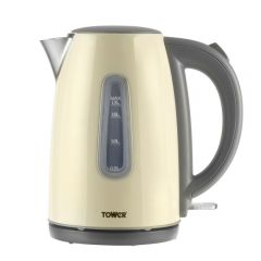Tower T10015C Infinity 3Kw 1.7L Stainless Steel Jug Kettle Cream
