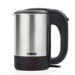 Tower T10026 650W 0.5L Stainless Steel Travel Kettle