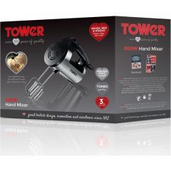 Tower T12016 300W Stainless Steel Hand Mixer