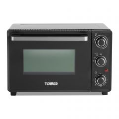 Tower T14043 23L Mini Oven Black With Silver Accents