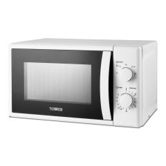 Tower T24034WHT 20L 700W Manual Microwave White