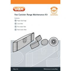 Vax 1-9-125401-00 Bags With Filters All Canister Models