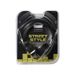 Vivanco 34877 Black Street Style X- Bass Headphones