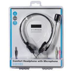 Vivanco 36651 Comfort Headphone With Microphone