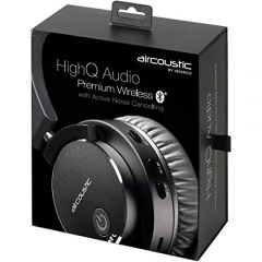 Vivanco 38896 High Q Audio On-Ear Headphone Black Wireless Bluetooth With Active Noise Cancelling