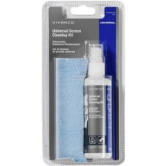 Vivanco 39751 Universal Screen Cleaning Kit, 100Ml Bottle With Microfiber Cloth.