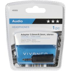 Vivanco 46065 3.5Mm To 6.3Mm Stereo Adapter