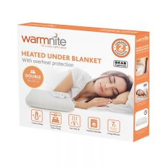 Warmnite WN48003N Double Heated Under Blanket With Overheat Protection White