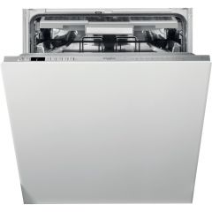 Whirlpool WIO3O33PLESUK Fully Integrated Standard Dishwasher - Stainless Steel Effect Control Panel